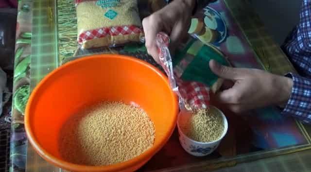 Приготовим пшённую крупу