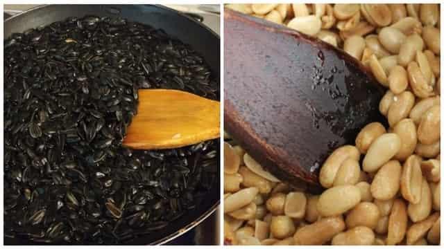 Жареные семечки и арахис для ловли рыбы