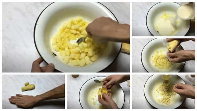 Процесс приготовления насадки из кукурузных палочек